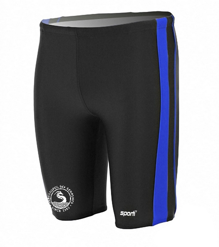 Male Jammer - Sporti Piped Splice Swim Jammer Swimsuit