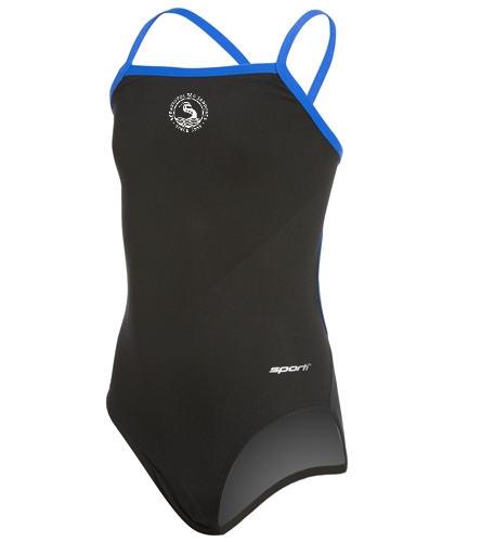 youth - Sporti Poly Pro Piped Thin Strap One Piece Swimsuit Youth (22-28)