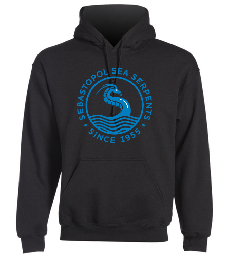 SSS Custom Black Hoodie - SwimOutlet Heavy Blend Unisex Adult Hooded Sweatshirt
