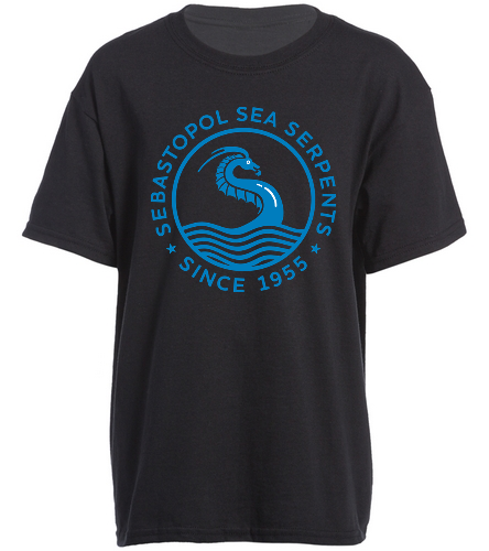 Youth t shirt black - SwimOutlet Youth Cotton Crew Neck T-Shirt