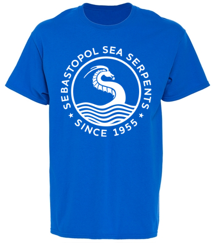 bright blue t - SwimOutlet Youth Cotton Crew Neck T-Shirt