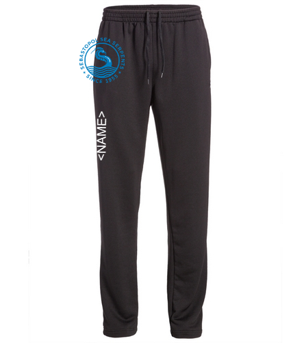 black sweatpant with custom name up leg - TYR Alliance Victory Male Warm Up Pant