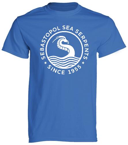 SSS Blue Logo T - SwimOutlet Cotton Unisex Short Sleeve T-Shirt