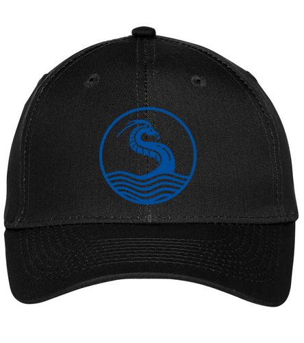 black hat2 - SwimOutlet Unisex Performance Twill Cap