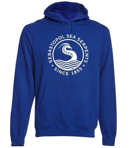 royal - SwimOutlet Adult Fan Favorite Fleece Pullover Hooded Sweatshirt