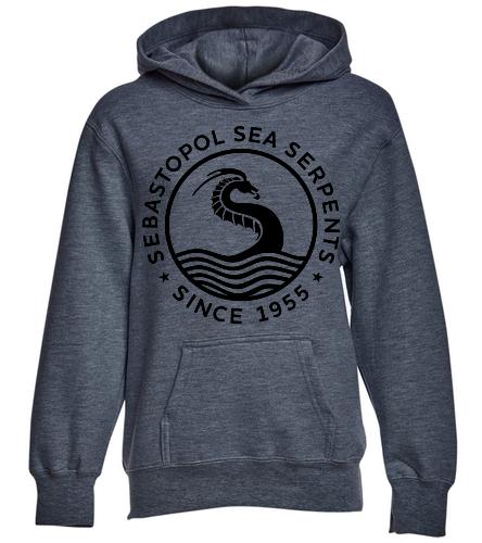 SSS Deep Heather Youth hoodie - SwimOutlet Youth Fan Favorite Fleece Pullover Hooded Sweatshirt