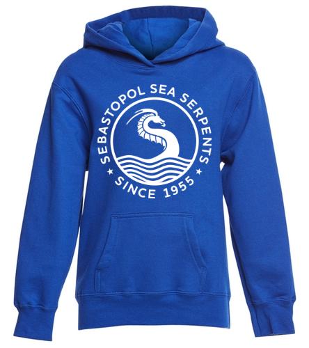 youth royal - SwimOutlet Youth Fan Favorite Fleece Pullover Hooded Sweatshirt