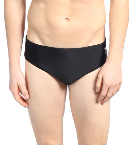 SF Tsunami Black  - TYR Men's TYReco Solid Racer Brief Swimsuit