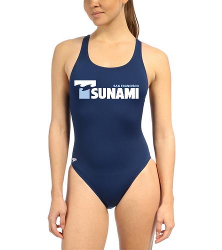 SF Tsunami - Speedo Women's Solid Endurance+ Super Proback One Piece Swimsuit