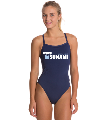 SF Tsunami  - Speedo Solid Endurance + Flyback Training One Piece Swimsuit