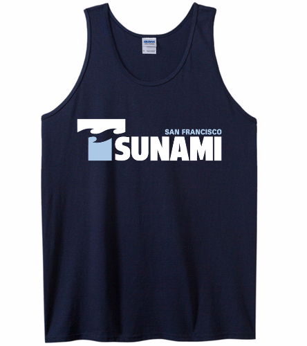 SF Tsunami  - SwimOutlet Men's Cotton Tank Top