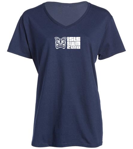 ISC V neck Women - SwimOutlet Women's Cotton V-Neck T-Shirt