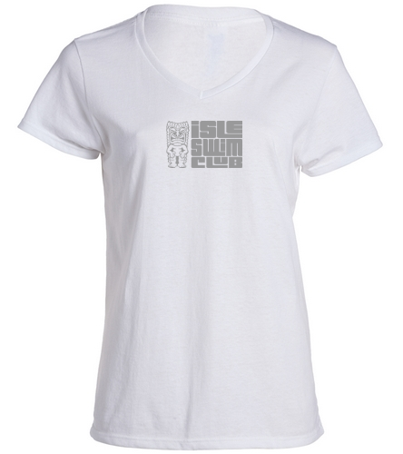 Isle Swim Club Ladies V-Neck - SwimOutlet Women's Cotton V-Neck T-Shirt