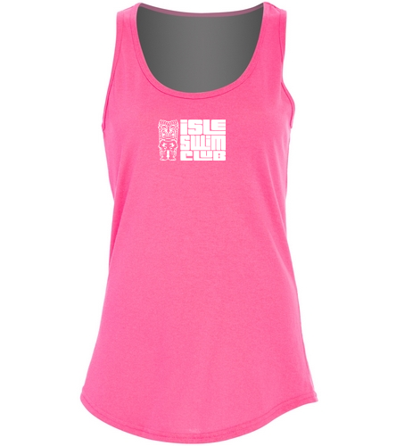 Pink Tank ISC Tiki - SwimOutlet Women's Cotton Tank Top - Brights