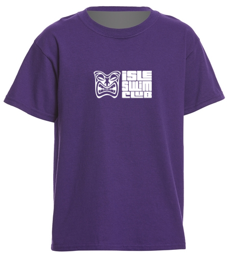 Youth Purple Team Shirt - SwimOutlet Youth Cotton T Shirt - Brights