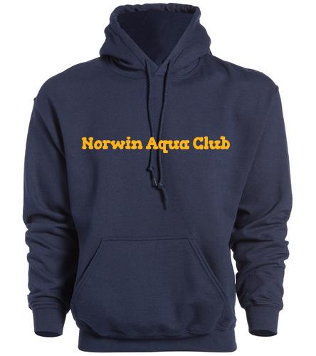 Norwin Aqua Club Hooded Sweatshirt - SwimOutlet Heavy Blend Unisex Adult Hooded Sweatshirt