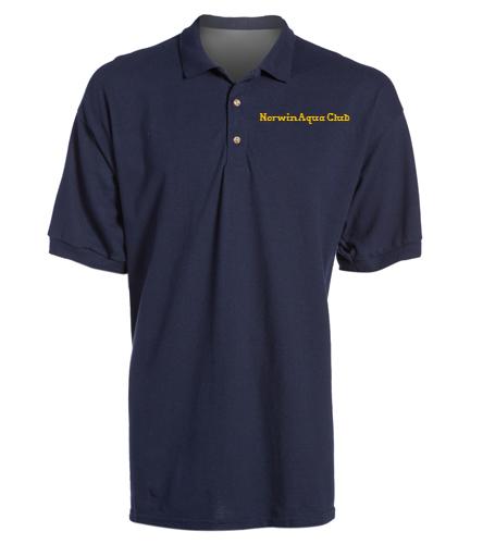 Norwin Aqua Club Sport Shirt - SwimOutlet Ultra Cotton Adult Men's Pique Sport Shirt