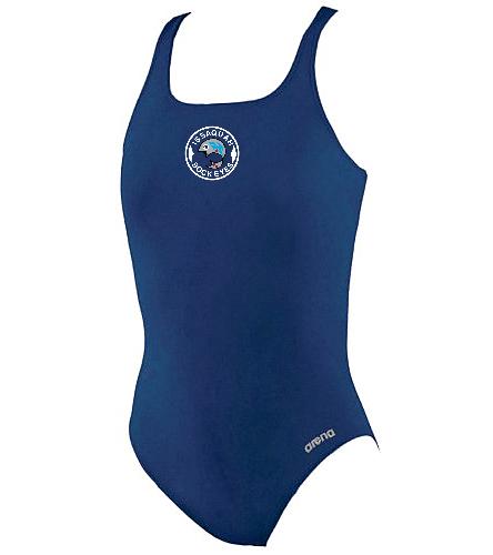 Girls Madison Youth Logo - Arena Girls' Madison Athletic Thick Strap Racer Back One Piece Swimsuit