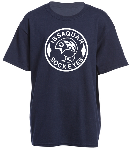 Navy Youth Logo - SwimOutlet Youth Cotton Crew Neck T-Shirt