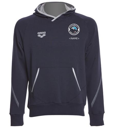 Fleece Pullover Hooded Logo - Arena Unisex Team Line Stretch Fleece Pullover Hoodie