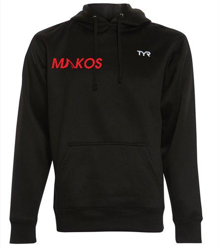 Makoslogofront - TYR Men's Alliance Pullover Hoodie