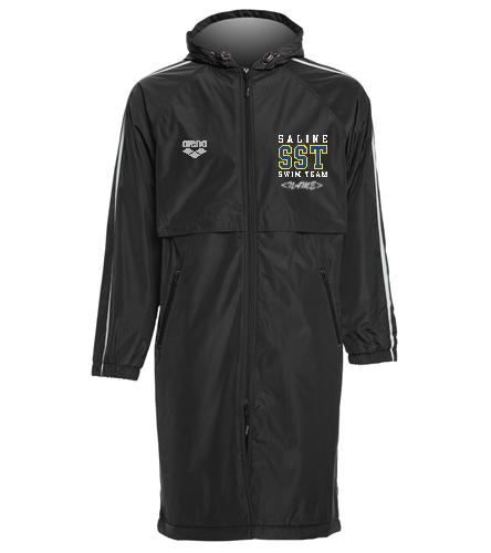 Adult Parka - Sporti Striped Comfort Fleece-Lined Swim Parka