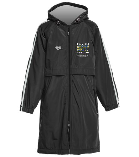 Youth Parka - Sporti Striped Comfort Fleece-Lined Swim Parka Youth