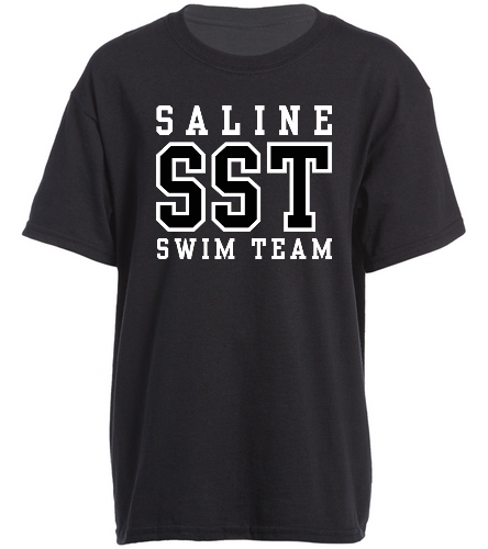 SST Black Youth Tee - SwimOutlet Youth Cotton Crew Neck T-Shirt