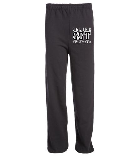 Black SST Sweat Pants - SwimOutlet Heavy Blend Unisex Adult Open Bottom Sweatpants