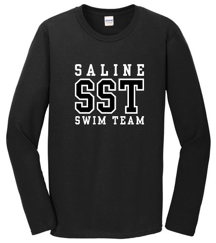Black Long Sleeve Tee - SwimOutlet Cotton Unisex Long Sleeve T-Shirt