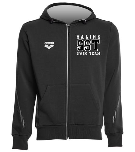 Black Arena Zip-up - Arena Unisex Team Line Fleece Hooded Jacket