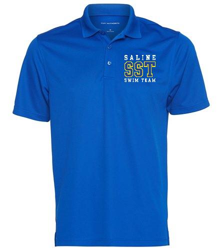 Blue Polo - SwimOutlet Men's Dry Zone® UV Micro-Mesh Polo