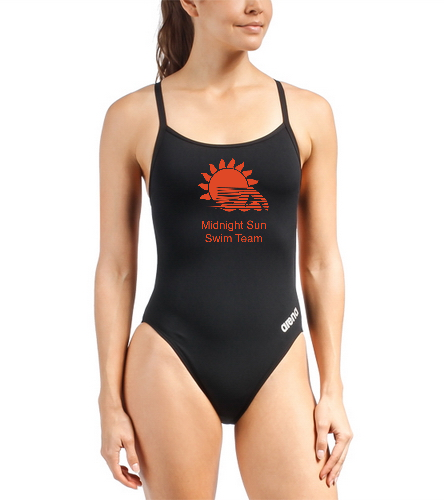 MSST Black Mast MAxLife Thin Strap - Arena Women's Mast MaxLife Thin Strap Open Racer Back One Piece Swimsuit