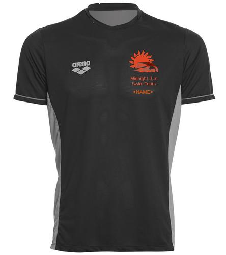 Crew Shirt - Arena Men's Team Line Crew Neck Short Sleeve Tech T Shirt