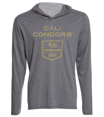 2020 Champs Lt Grey - SwimOutlet Men's Perfect Long Sleeve Hoodie