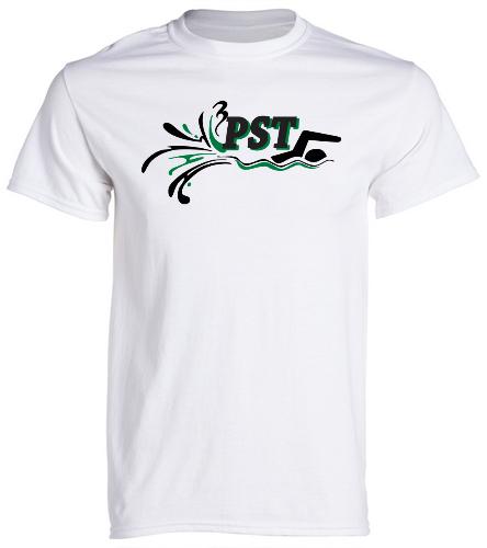 Heavy Cotton Adult T-Shirt - white - SwimOutlet Unisex Cotton Crew Neck T-Shirt