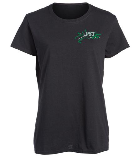 Heavy Cotton Missy Fit T-Shirt  - black - SwimOutlet Women's Cotton Missy Fit T-Shirt