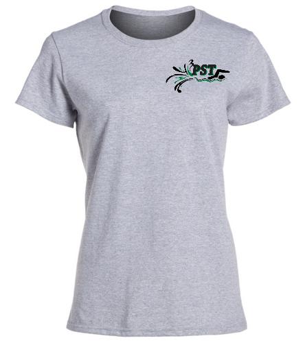 Heavy Cotton Missy Fit T-Shirt - gray - SwimOutlet Women's Cotton Missy Fit T-Shirt
