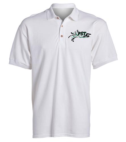 Ultra Cotton Adult Pique Sport Shirt - white - SwimOutlet Ultra Cotton Adult Men's Pique Sport Shirt