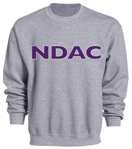 NDAC Grey Crewneck - SwimOutlet Heavy Blend Unisex Adult Crewneck Sweatshirt
