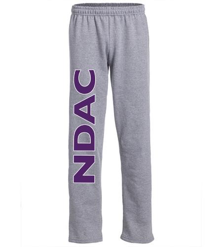 NDAC Letter Grey Sweat Pants - SwimOutlet Heavy Blend Unisex Adult Open Bottom Sweatpants