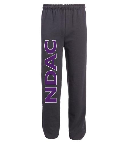NDAC Letters Black Sweatpants - SwimOutlet Heavy Blend Unisex Adult Open Bottom Sweatpants