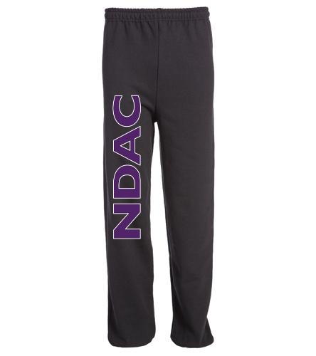 NDAC Lettered Black Sweatpants - SwimOutlet Heavy Blend Unisex Adult Sweatpant