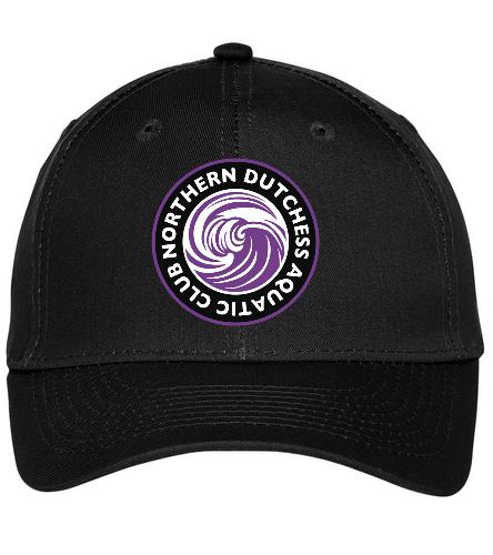 NDAC Logo Grey Baseball Cap - SwimOutlet Unisex Performance Twill Cap