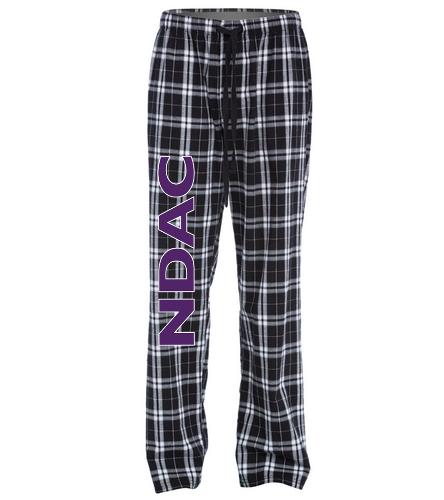 NDAC Flannel Pants Grey - SwimOutlet Unisex Flannel Plaid Pant