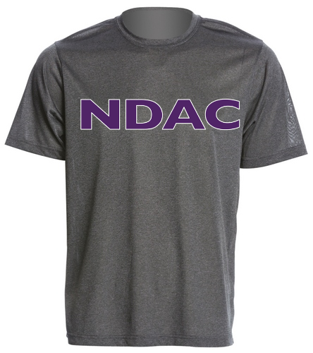 NDAC Grey Tech tee - SwimOutlet Men's Tech Tee