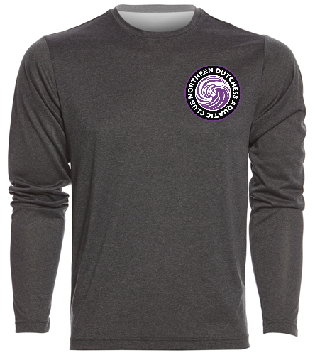 NDAC Grey Longsleeve - SwimOutlet Men's Long Sleeve Tech T Shirt