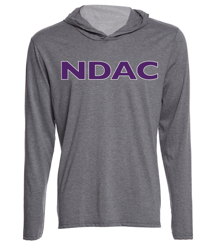 NDAC Grey Hooded Tee - SwimOutlet Men's Perfect Long Sleeve Hoodie