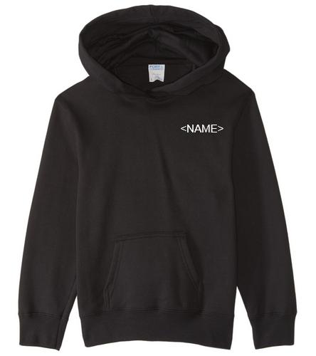 NDAC Black Hooded Sweatshirt YOUTH - SwimOutlet Youth Fan Favorite Fleece Pullover Hooded Sweatshirt