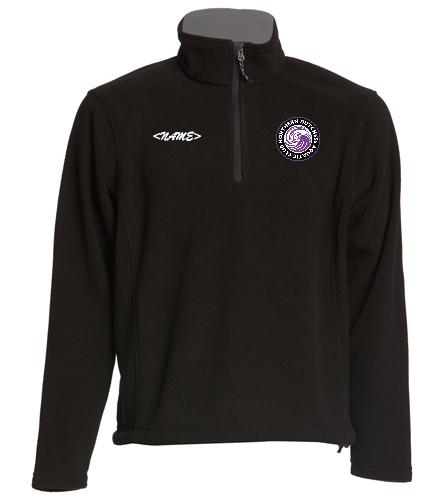 NDAC Logo Fleece Zip Pullover - SwimOutlet Adult Unisex Fleece 1/4-Zip Pullover